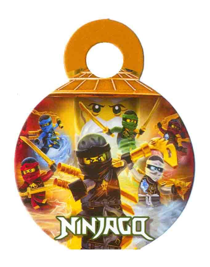 Медальки для конкурсов с ленточками Ниндзяго 10 шт