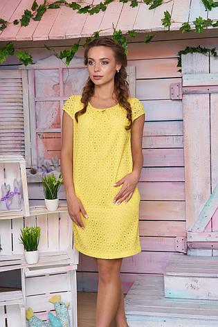 """Яркое летнее платье """"Магда"""" (желтое), фото 2"""