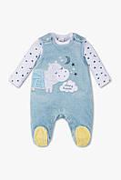 Детский велюровый комплект для новорожденного 0-1 месяц, фото 1