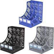 """Органайзер для бумаг """"A-plus"""" вертикальный 3 секции Е31903 синий"""