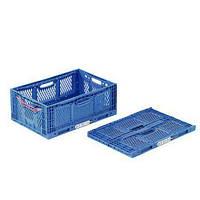 Cкладная коробка синяя, органайзер Clever fresh box advance 600*400*230