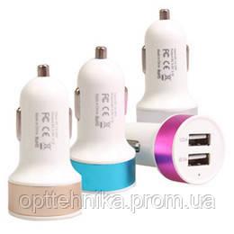 """Автомобильное зарядное устройство """"Кольцо"""" 2 USB Port 2.1A+1A"""