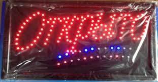 "LED вывеска ""Открыто"" 2 цвета"