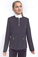 Пиджак школьный для девочки м-239 черный рост 164