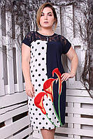 Платье большого размера Керри Калла красный, красивое платье большого размера, фото 1