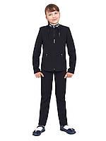 """Пиджак школьный для девочки м-239 черный рост 134 140 164 тм """"Попелюшка"""", фото 1"""