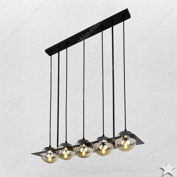 Люстра подвес лофт 5 ламп черный 05-5
