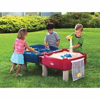 Детская песочница-стол Little Tikes ИГРАЕМ И РИСУЕМ (для песка и воды, с аксессуарами)