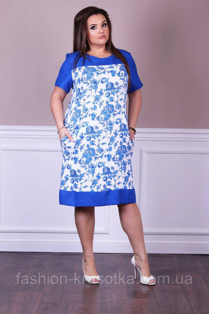 Нарядное модное женское летнее платье в размерах 48-56