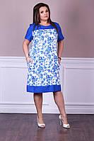 Нарядное модное женское летнее платье в размерах 48-56, фото 1