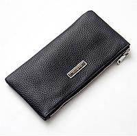 Кожаный черный кошелек., фото 1