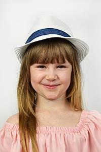 Шляпа детская Барбадос белая