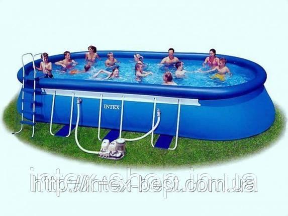 Каркасно-надувной бассейн Intex Oval Frame Pool 57982 ( 610 х 366 х 122 см. ) ГАРАНТИЯ!, фото 2