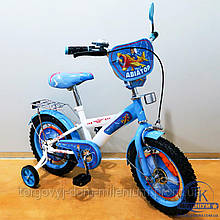 Велосипед Tilly Авиатор 14 (white+blue) T-214210