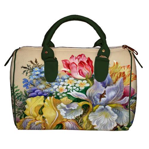 99662968f768 Текстильная женская сумка-бочонок с цветочным принтом. , цена 500 грн.,  купить в Одессе — Prom.ua (ID#696894781)