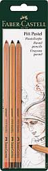 Набор пастельных карандашей Faber-Castell  PITT PASTEL 3 шт. в блистере, 112797