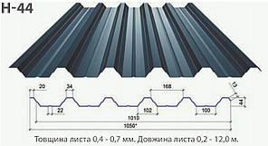 Профнастил с44/к44 цинк ( 0.4мм )