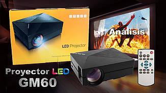 Портативный проектор  GM60  мини домашний кинотеатр 800x480 LED LCD