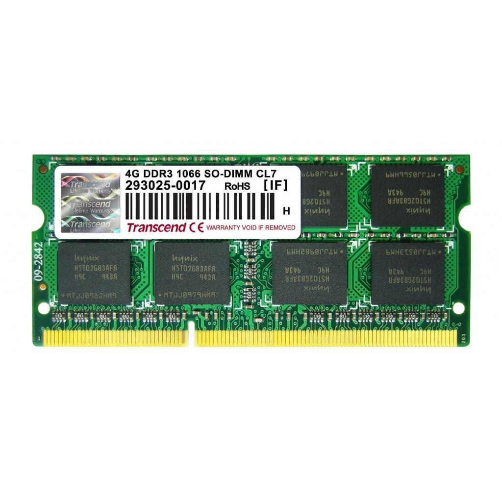 Модуль памяти для ноутбука SoDIMM DDR3 4GB 1066 MHz Transcend (TS4GAP1