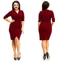 Платье женское короткое из дайвинга на запах P8649, фото 1