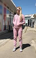 Теплый женский костюм от UGG Australia Zip Merino Pink пудровый на молнии