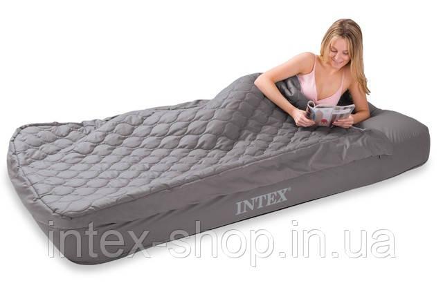 Надувной матрас Intex, 66998 со спальным мешком (91х193х25 см)