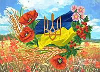"""Схема на атласе для вышивки бисером """"Моя Украина"""""""