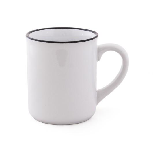 Чашка с черным ободком RETRA 350 мл