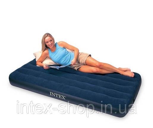 Надувной матрас Intex Classic Downy Airbeds 68758 (191х137х22см), фото 2