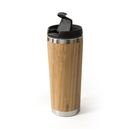 Термочашка MOMENTUM 420 мл, бамбук