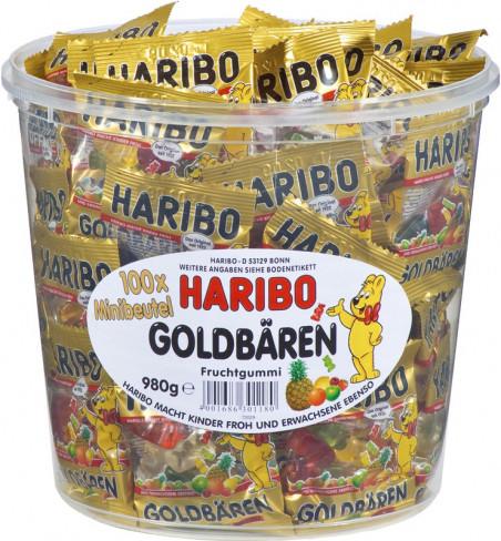 Цукерки жувальні Haribo 100шт*9,8г Золоті Ведмеді
