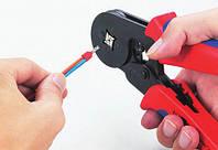 Кримпер клещи для обжима кабельных наконечников 0.25-6 мм2 (23-10 AWG) HSC8 6-4 обжимка 4 обжимных кулачка