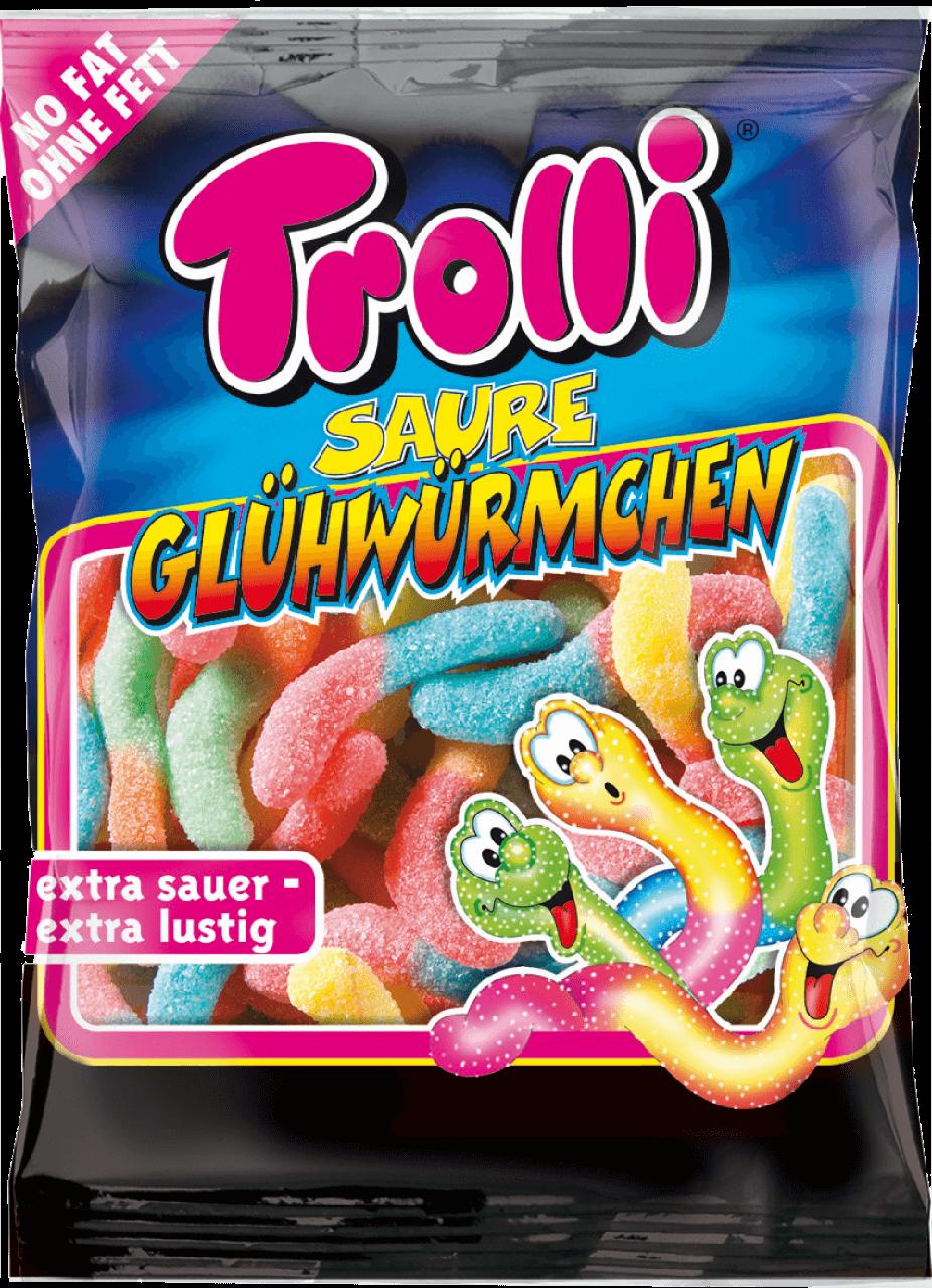 Цукерки жувальні Trolli 100г Кислі світлячки