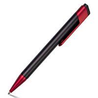 Ручка шариковая черная NORA с цветным клипом