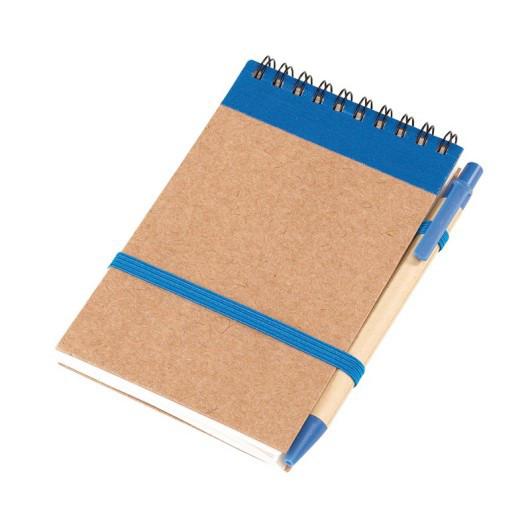 Блокнот RECYCLE на пружине с ручкой