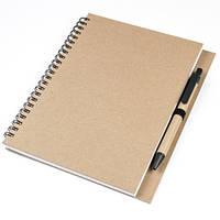 Блокнот А5 ECOVERA на пружине с ручкой, фото 1
