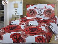 """Полуторное постельное белье """"Крупные розы"""""""