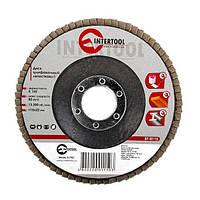 Диск шлифовальный лепестковый 115*22мм, зерно K150 Intertool BT-0115