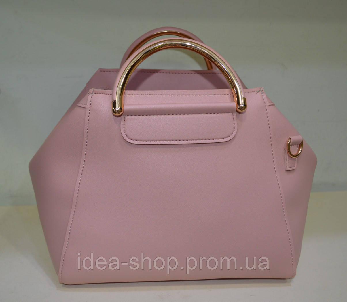 42b81f887679 Модная сумка через плечо из экокожи цвета пудра - интернет-магазин