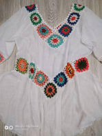 Пляжная туника платье оверсайз , фото 1