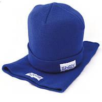 Набор вязаный шапка+бафф, унисекс
