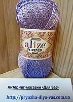 Летняя акриловая пряжа с люрексом (96%-микрофибра, 4%-металлик) Alze Forever Simli 158