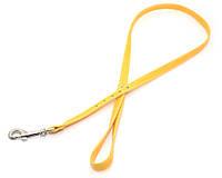Поводок для собак винил кожа VIP 23 желтый