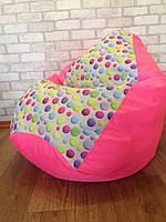 Бескаркасное кресло мешок, кресло груша, кресло подушка, мягкий пуф