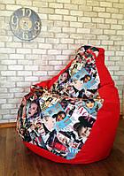 Бескаркасное кресло мешок, кресло груша, кресло подушка