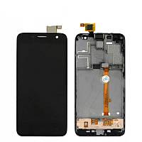 Дисплей (LCD) Alcatel 6012D Idol Mini/ 6012X + Сенсор (тачскрин) черный + рамка