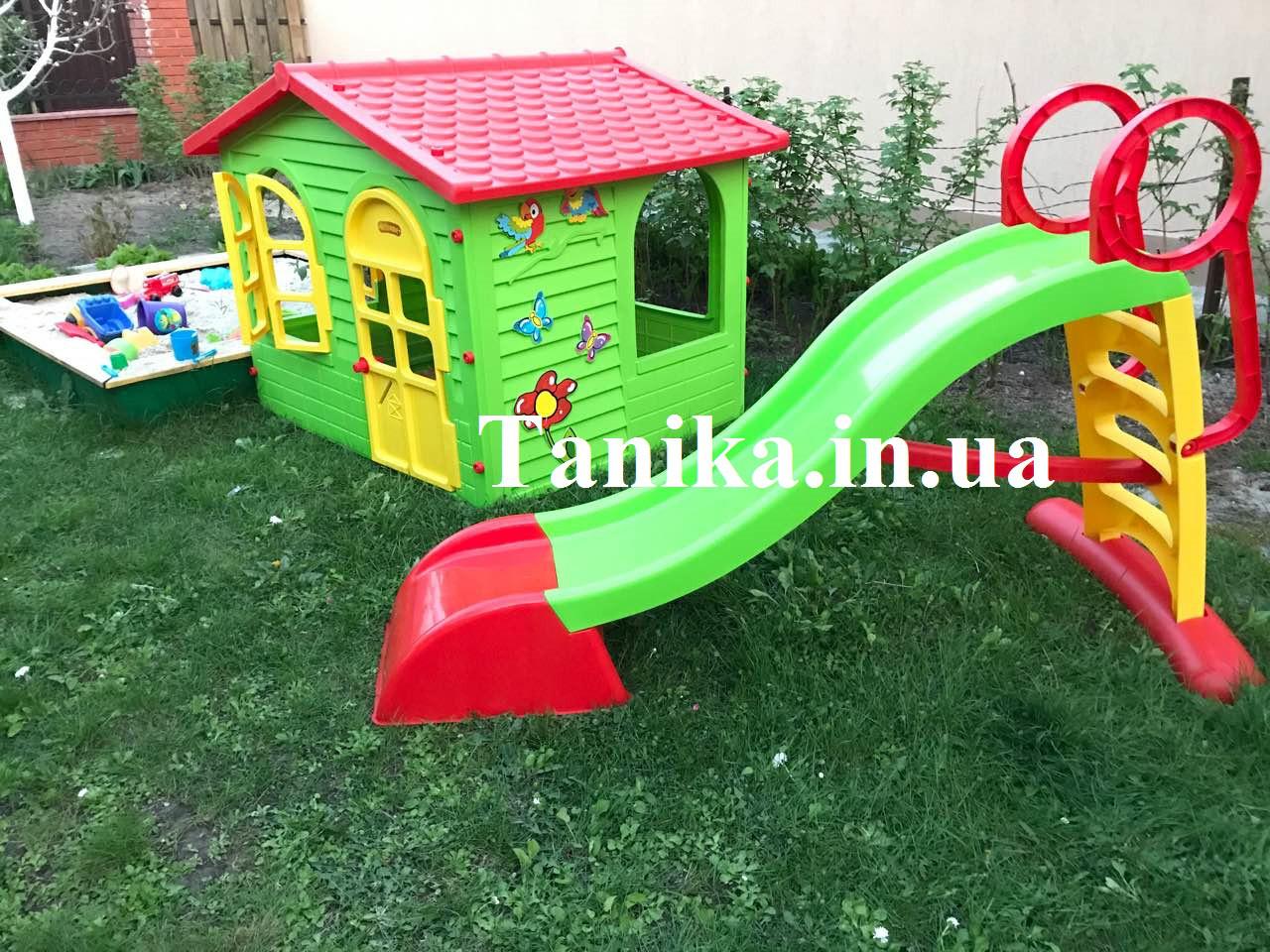 Детская площадка большой домик с горкой