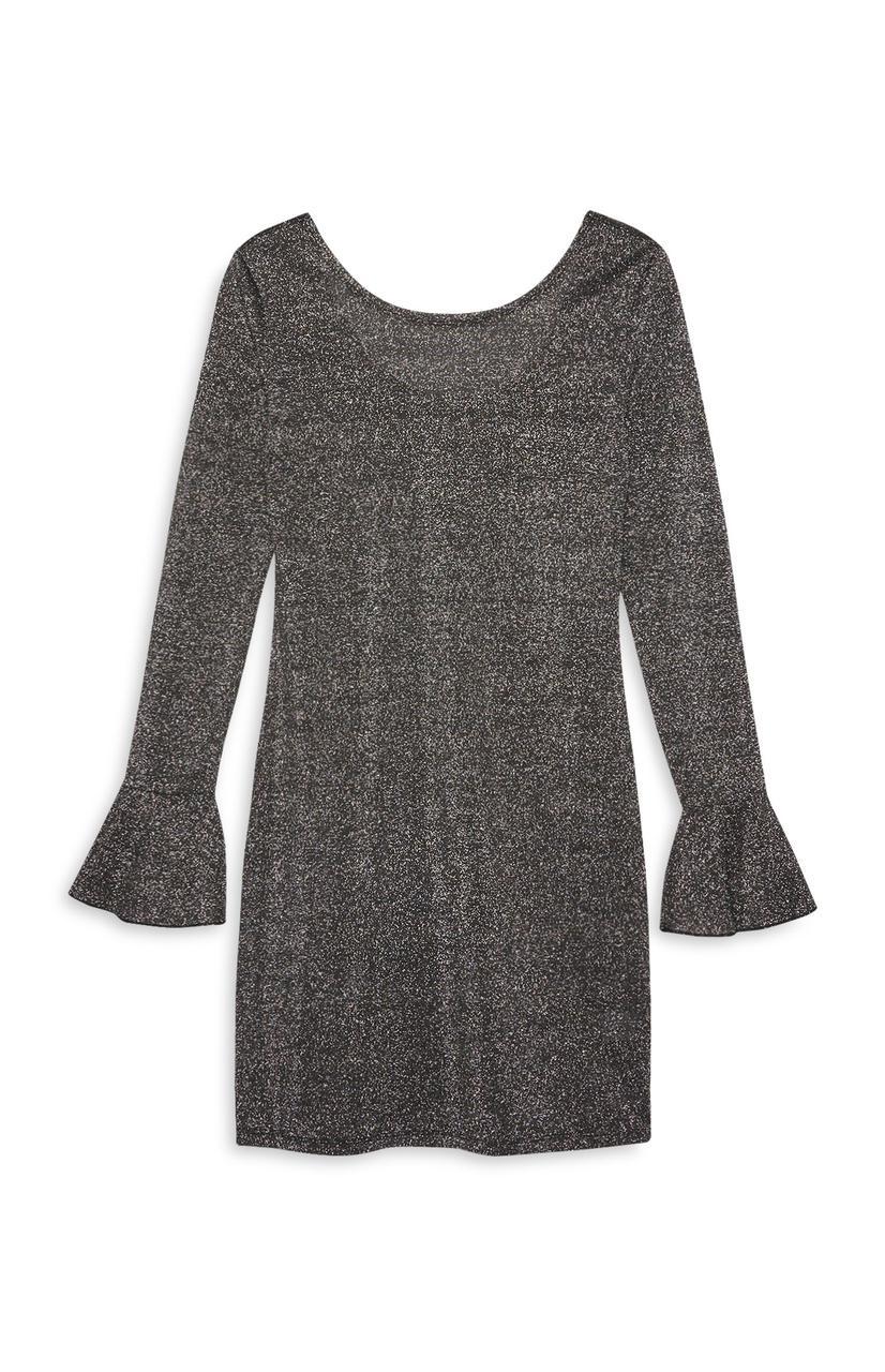 Блестящее платье с красивыми рукавами Primark