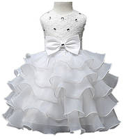 """Белое платье для девочки """"Волны"""", фото 1"""