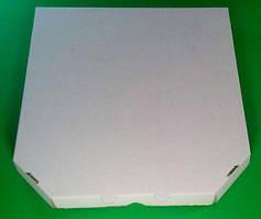 Коробка под пиццу белая без рисунка 450Х450Х30 мм,  50 шт\уп